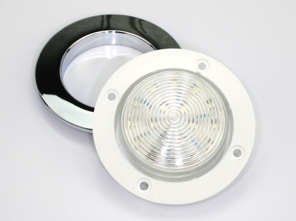 Recessed 35 dome or ceiling light bright waterproof 12v cool recessed 35 dome or ceiling light bright waterproof 12v cool white 5000k aloadofball Gallery