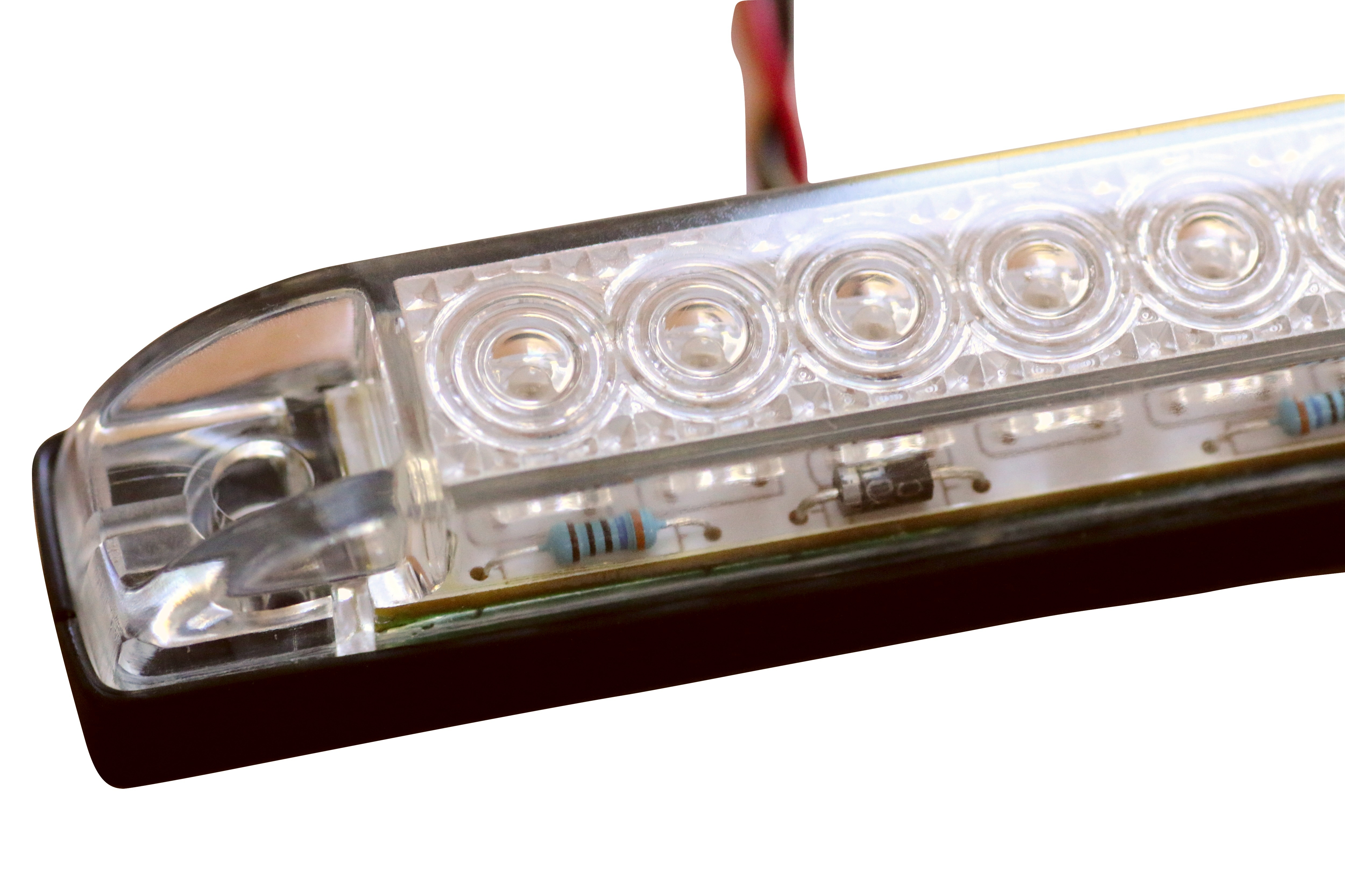Waterproof Led Strip Lights 4 Quot Length White Amber