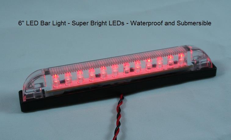 led bar light 6 length heavy duty waterproof 12vdc 24 vdc led coo. Black Bedroom Furniture Sets. Home Design Ideas