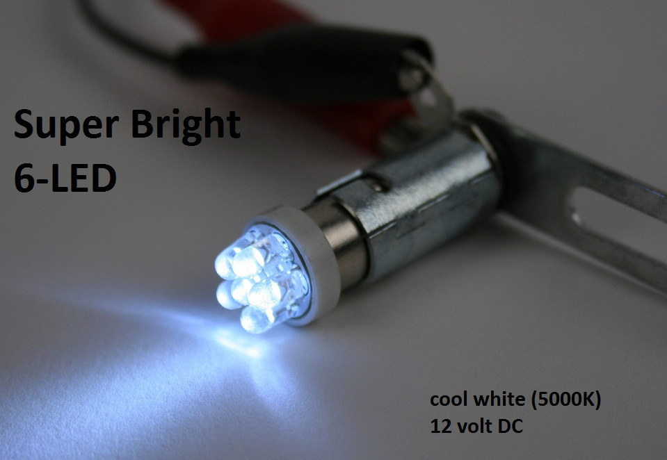 Super Bright 6 Led Ba9s Bulb 12 Or 24v Pilotlights Net