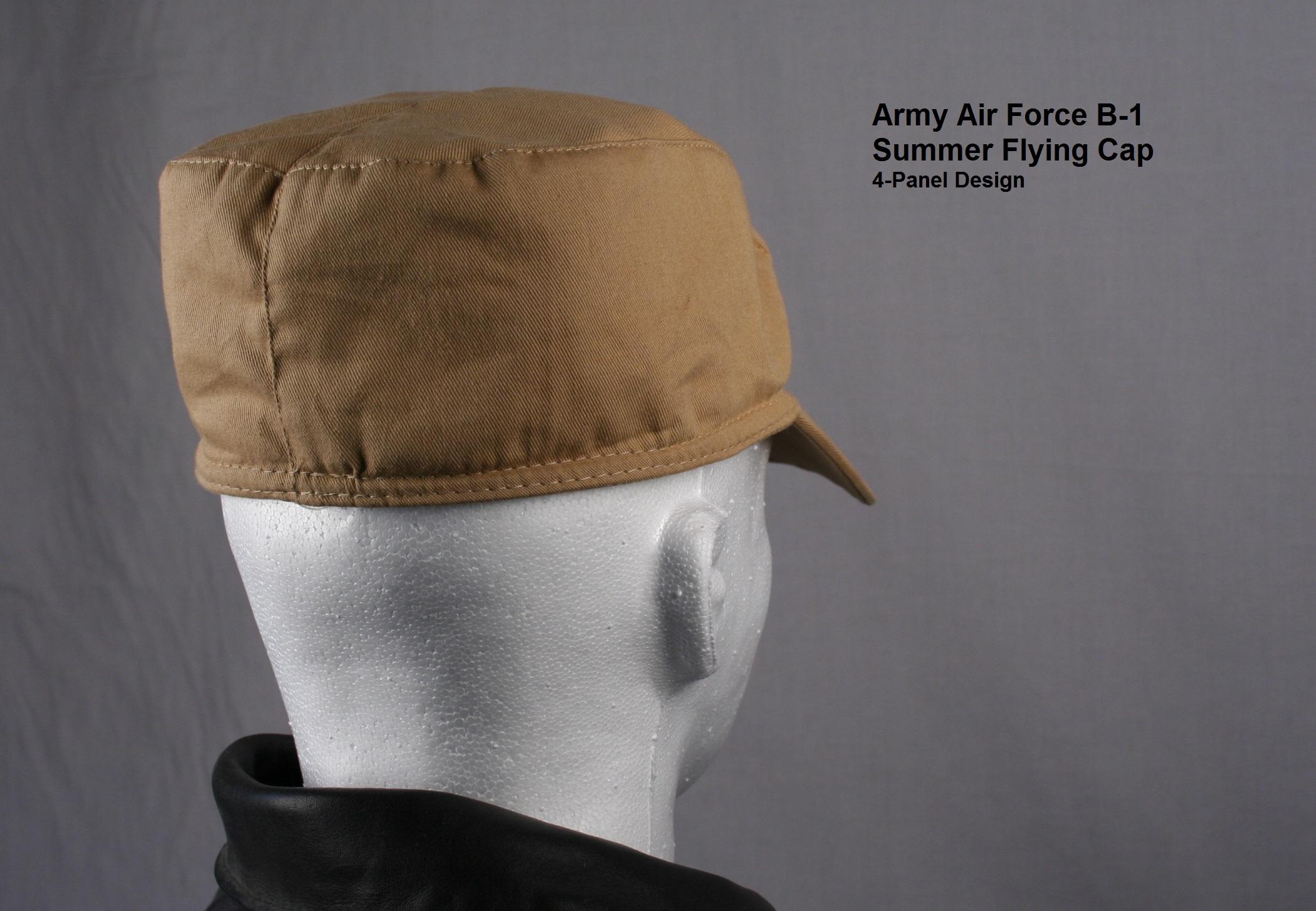 Army Air Force B 1 Cap Summer Flying Cap 100 Cotton B