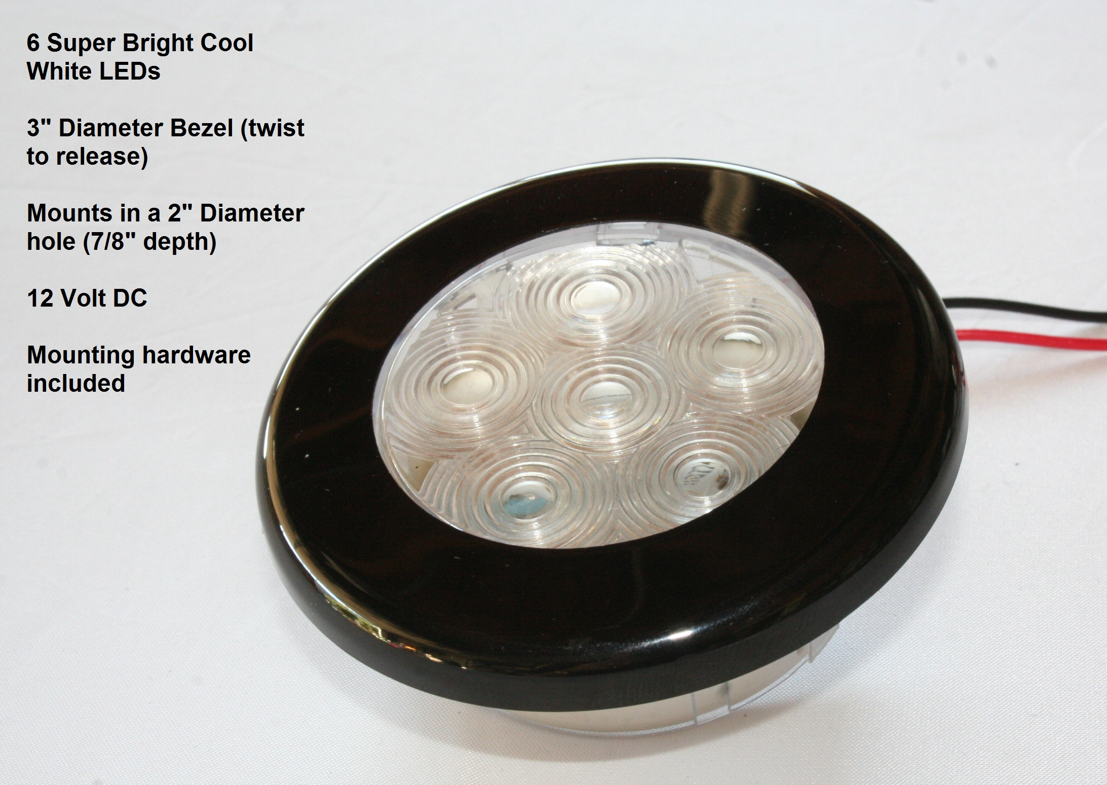 led recessed cabin light white led 12vdc