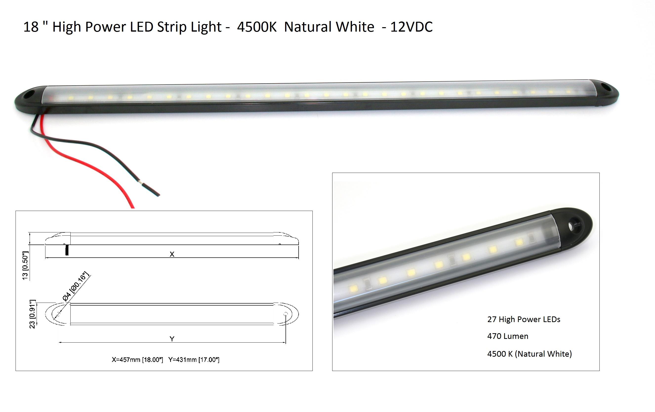 18 linear led light bar super bright waterproof 12v natural 18 linear led light bar super bright waterproof 12v natural white 4000k aloadofball Gallery