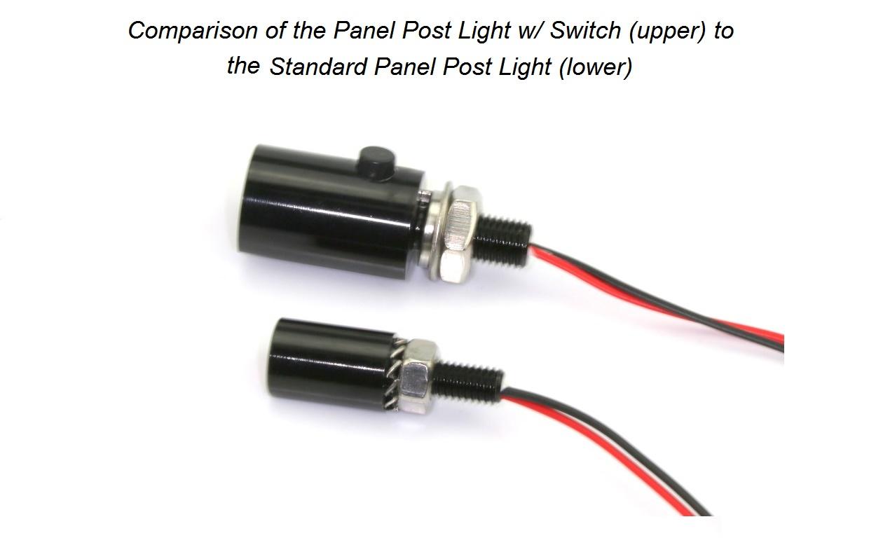 Led Panel Post Light With Switch 12v Or 24v