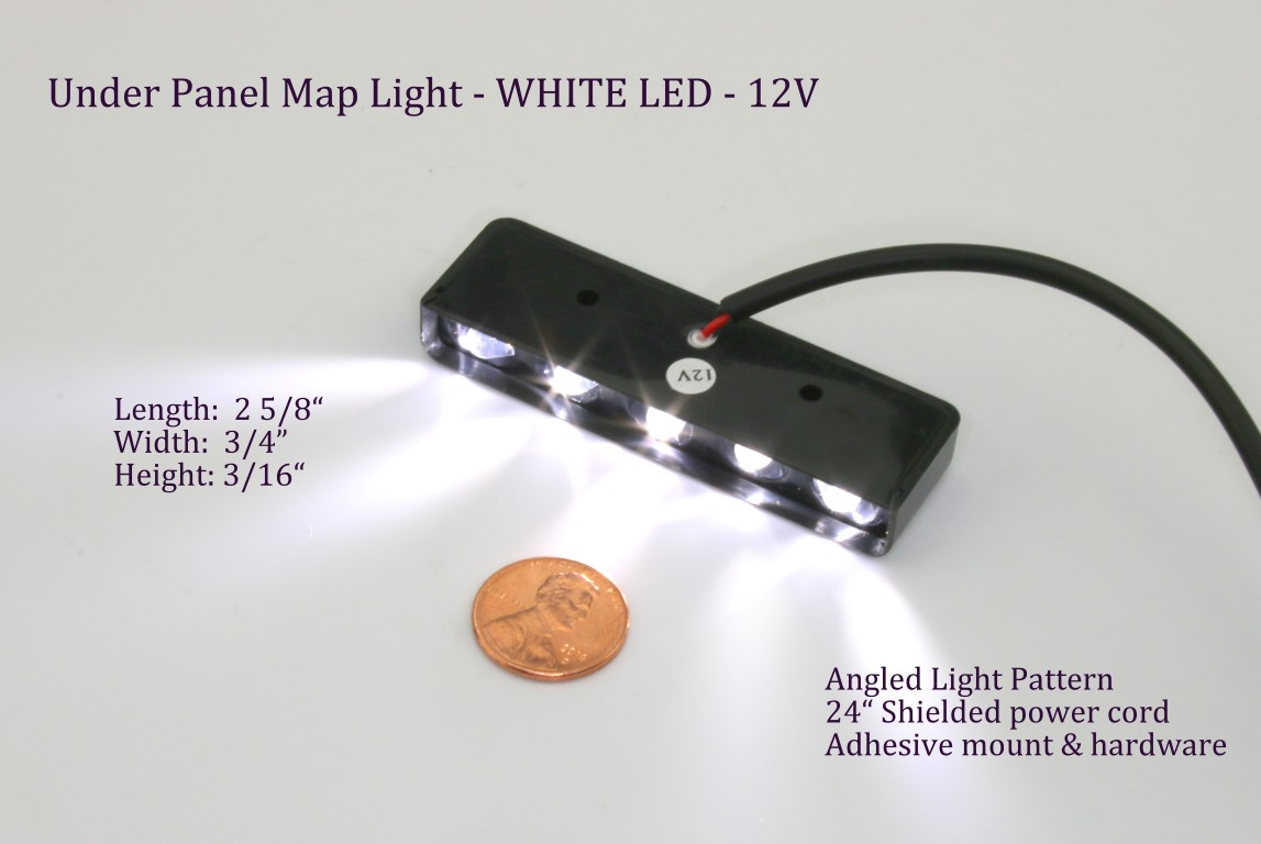 High Power Under Panel LED Fixture - 12V or 24V   PilotLights.net